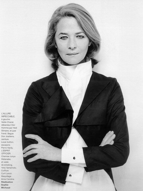 64da0bab427d Charlotte Rampling by Philippe Biancotto Hair.